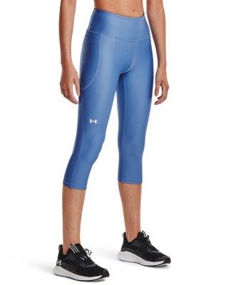 NWT Under Armour $50 Womens HeatGear Fly-By Running Capris Leggings black S M