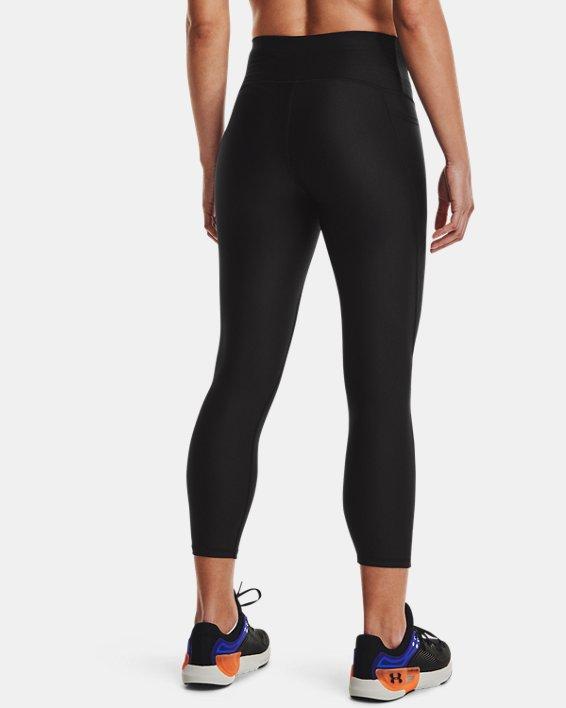 Women's HeatGear® Armour No-Slip Waistband Ankle Leggings, Black, pdpMainDesktop image number 1