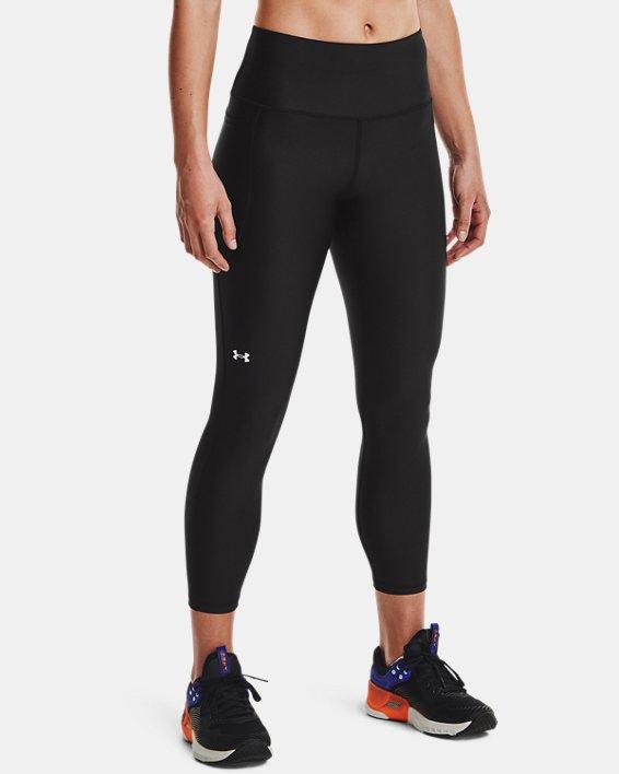 Women's HeatGear® Armour No-Slip Waistband Ankle Leggings, Black, pdpMainDesktop image number 0