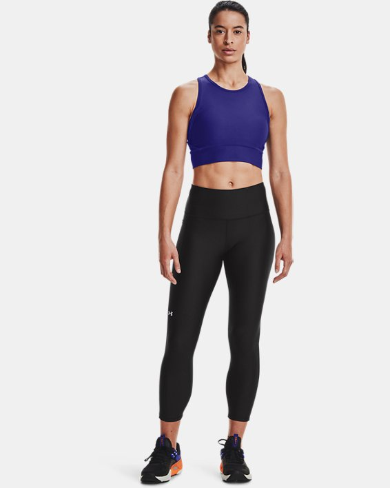 Women's HeatGear® Armour No-Slip Waistband Ankle Leggings, Black, pdpMainDesktop image number 2