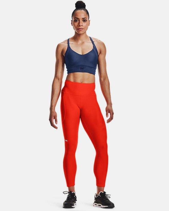 Damen HeatGear® Armour No-Slip Waistband Ankle-Leggings, Orange, pdpMainDesktop image number 2