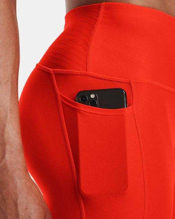 Damen HeatGear® Armour No-Slip Waistband Ankle-Leggings, Orange, pdpMainDesktop image number 4