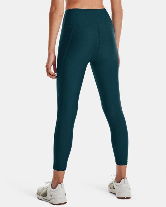 Women's HeatGear® Armour No-Slip Waistband Ankle Leggings, Blue, pdpMainDesktop image number 1