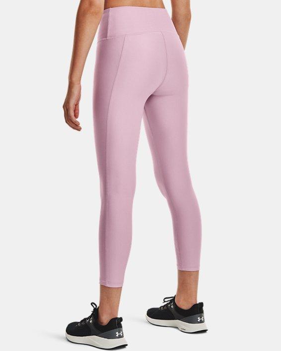 Women's HeatGear® Armour No-Slip Waistband Ankle Leggings, Pink, pdpMainDesktop image number 1