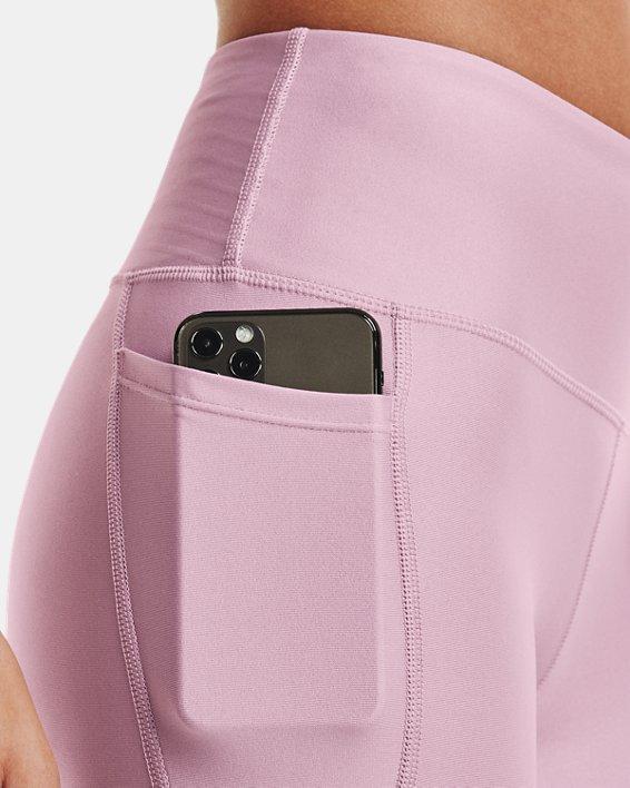Women's HeatGear® Armour No-Slip Waistband Ankle Leggings, Pink, pdpMainDesktop image number 3