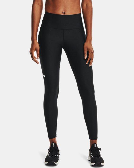 Women's HeatGear® Armour No-Slip Waistband Full-Length Leggings, Black, pdpMainDesktop image number 1