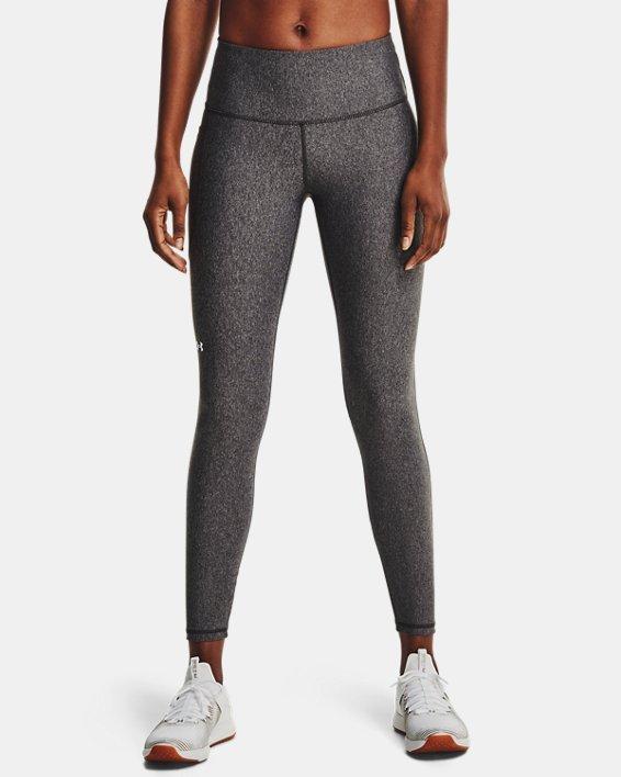 Women's HeatGear® Armour No-Slip Waistband Full-Length Leggings, Gray, pdpMainDesktop image number 0