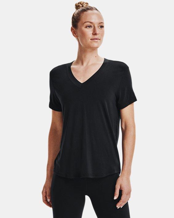 Women's UA Greatest (Tee) Ever V-Neck Short Sleeve, Black, pdpMainDesktop image number 0