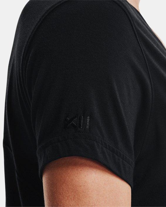 Women's UA Greatest (Tee) Ever V-Neck Short Sleeve, Black, pdpMainDesktop image number 4