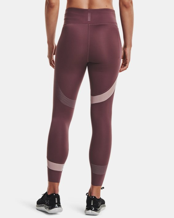 Women's UA Speedpocket Wave 7/8 Tights, Purple, pdpMainDesktop image number 2