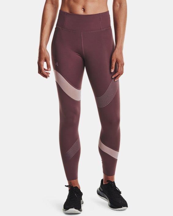 Women's UA Speedpocket Wave 7/8 Tights, Purple, pdpMainDesktop image number 1