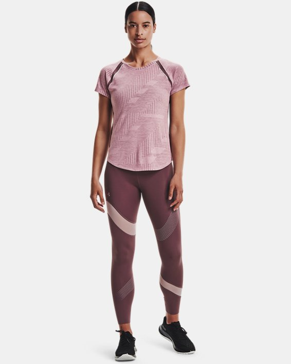Women's UA Speedpocket Wave 7/8 Tights, Purple, pdpMainDesktop image number 0
