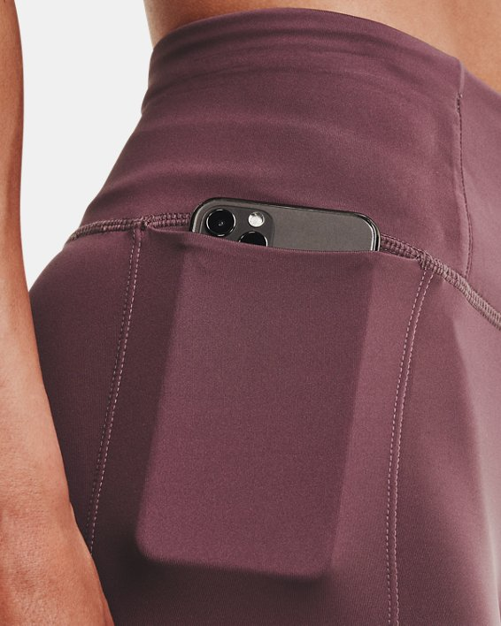 Women's UA Speedpocket Wave 7/8 Tights, Purple, pdpMainDesktop image number 3