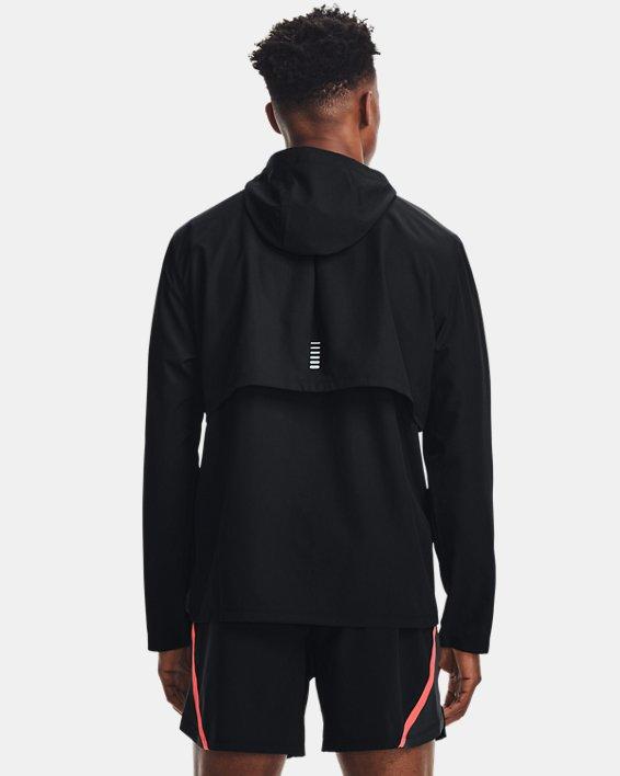 Men's UA OutRun The Rain Jacket, Black, pdpMainDesktop image number 0