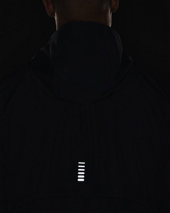 Men's UA OutRun The Rain Jacket, Black, pdpMainDesktop image number 5