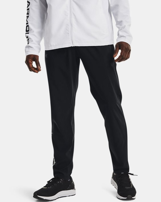 Men's UA Storm Run Pants, Black, pdpMainDesktop image number 1
