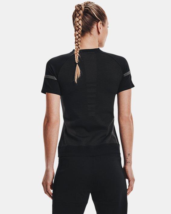Women's UA IntelliKnit ¼ Zip Short Sleeve, Black, pdpMainDesktop image number 2