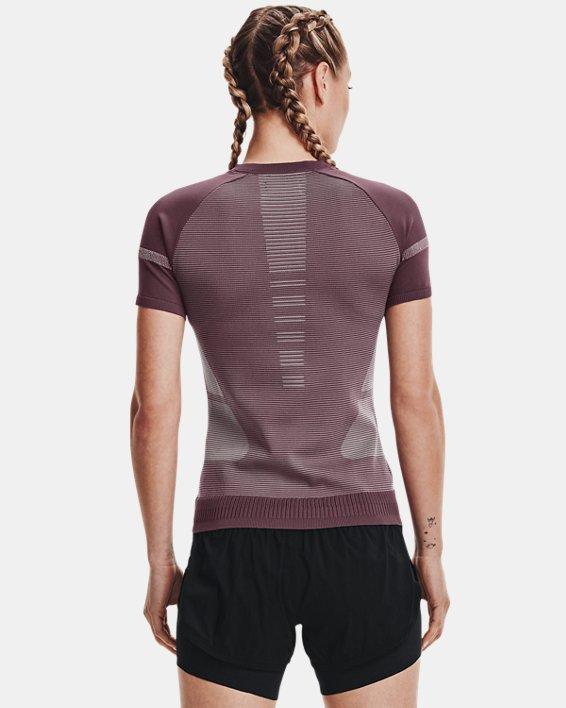 Women's UA IntelliKnit ¼ Zip Short Sleeve, Purple, pdpMainDesktop image number 2