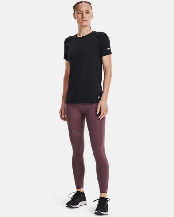 Women's UA Seamless Run Short Sleeve, Black, pdpMainDesktop image number 2
