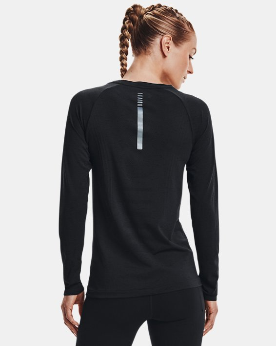 Women's UA Seamless Run Long Sleeve, Black, pdpMainDesktop image number 1