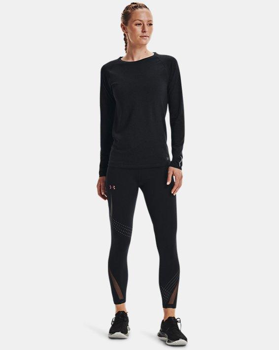 Women's UA Seamless Run Long Sleeve, Black, pdpMainDesktop image number 2