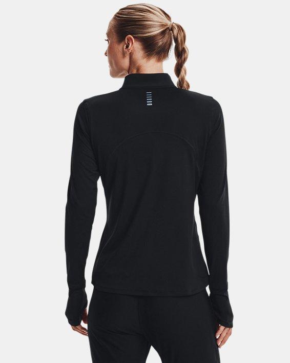 Women's UA Qualifier Run 2.0 ½ Zip, Black, pdpMainDesktop image number 2