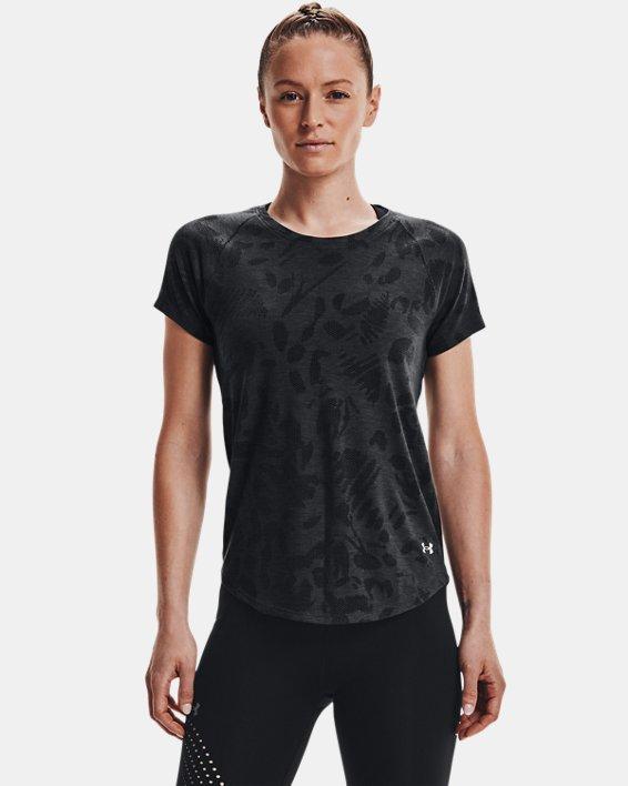 Women's UA Streaker Forest Short Sleeve, Black, pdpMainDesktop image number 1