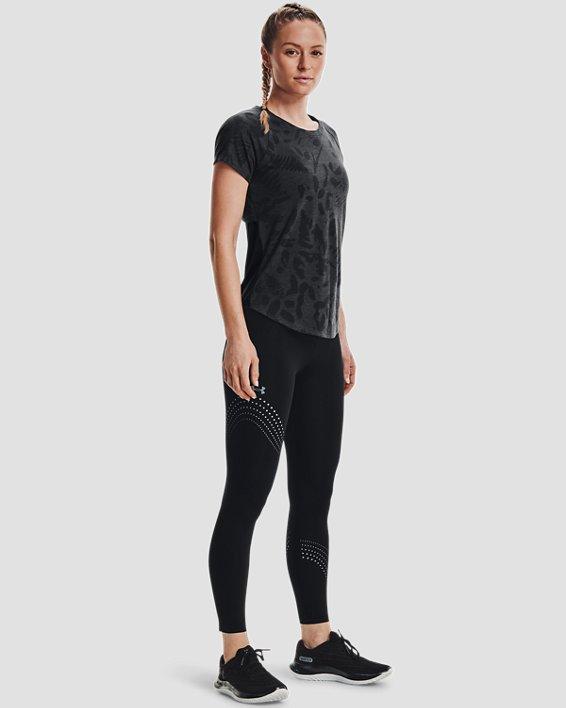 Women's UA Streaker Forest Short Sleeve, Black, pdpMainDesktop image number 0