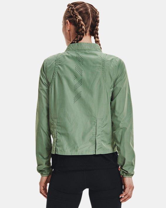 Women's UA Run Anywhere Laser Jacket, Green, pdpMainDesktop image number 2