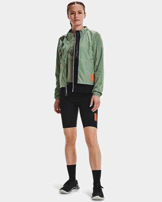 Women's UA Run Anywhere Laser Jacket, Green, pdpMainDesktop image number 0