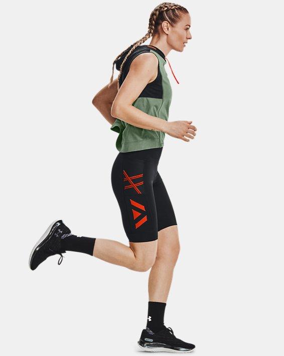 Women's UA Run Anywhere ½ Tights, Black, pdpMainDesktop image number 6