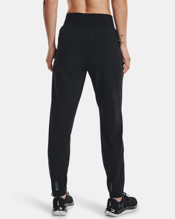 Women's UA OutRun the Storm Pants, Black, pdpMainDesktop image number 2