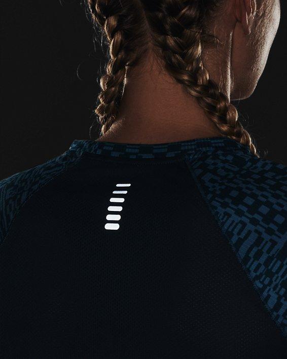 Women's UA Speed Stride Printed Short Sleeve, Blue, pdpMainDesktop image number 5