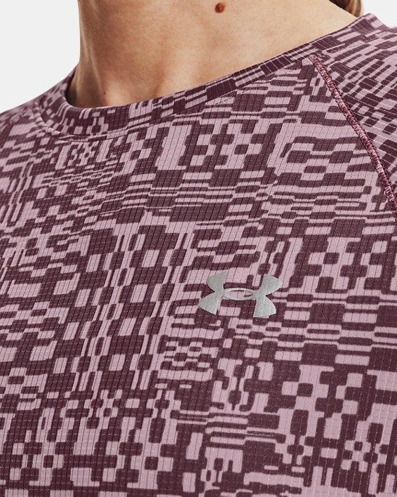 Women's UA Speed Stride Printed Short Sleeve, Purple, pdpMainDesktop image number 6