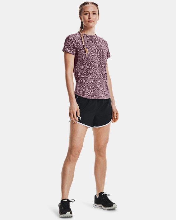 Women's UA Speed Stride Printed Short Sleeve, Purple, pdpMainDesktop image number 0