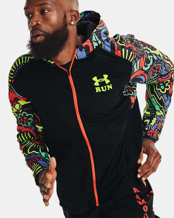 Men's UA Keep Run Weird Jacket, Black, pdpMainDesktop image number 3