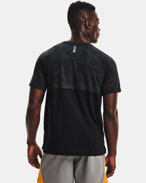 Men's UA Streaker 2.0 Camo Short Sleeve, Black, pdpMainDesktop image number 2