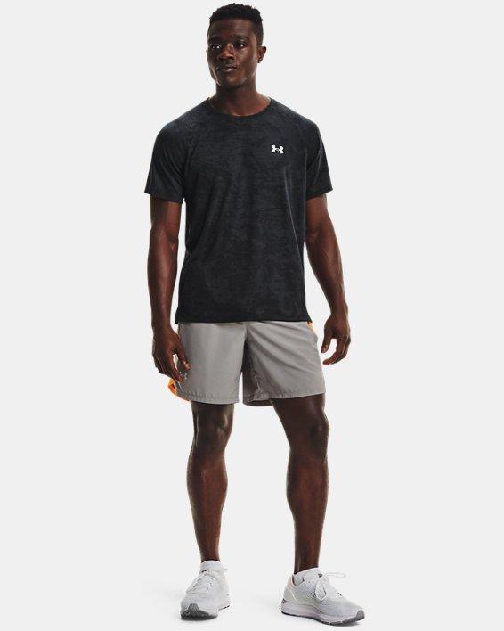 Men's UA Streaker 2.0 Camo Short Sleeve, Black, pdpMainDesktop image number 0