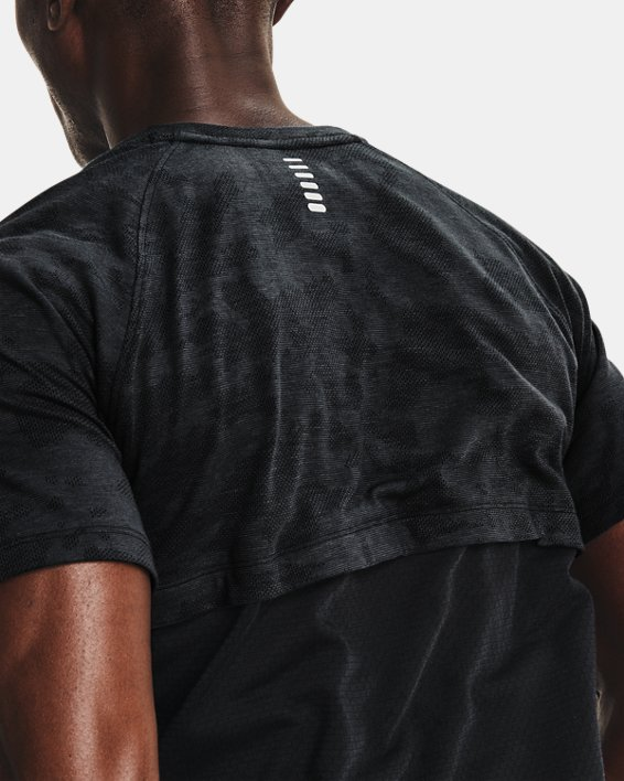 Men's UA Streaker 2.0 Camo Short Sleeve, Black, pdpMainDesktop image number 3