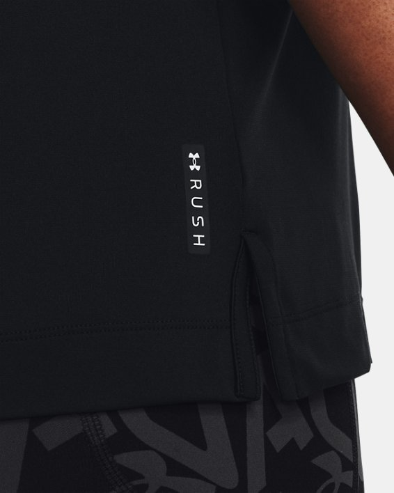 Women's UA RUSH™ Energy Core Short Sleeve, Black, pdpMainDesktop image number 3