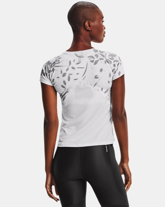 Women's UA Iso-Chill 200 Print Short Sleeve, White, pdpMainDesktop image number 1