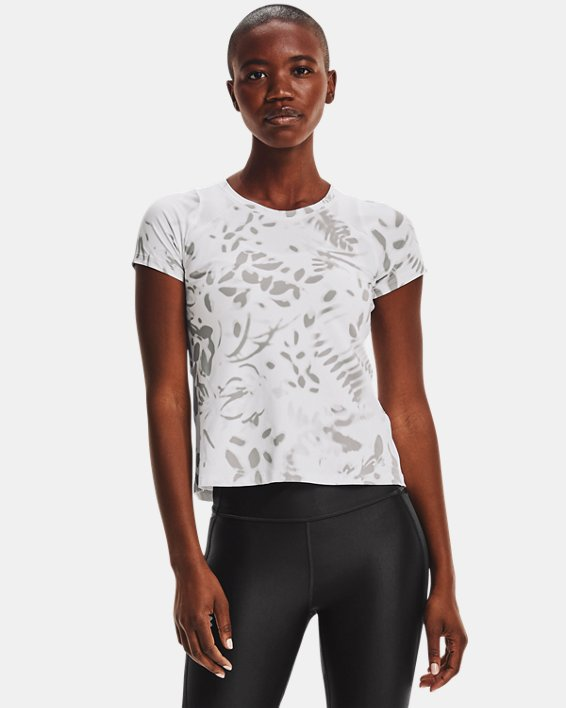 Women's UA Iso-Chill 200 Print Short Sleeve, White, pdpMainDesktop image number 0