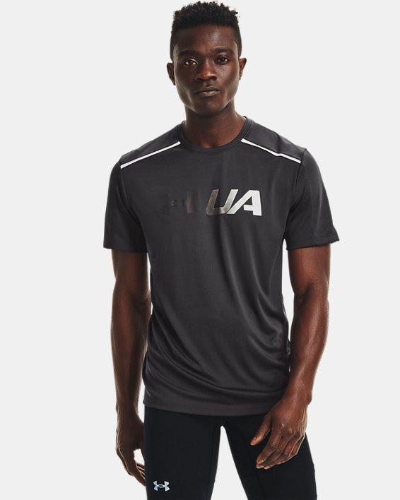 Men's UA Run Graphic Print Fill Short Sleeve, Gray, pdpMainDesktop image number 0