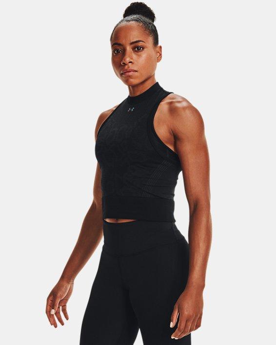 Top corto UA RUSH™ Seamless para mujer, Black, pdpMainDesktop image number 0