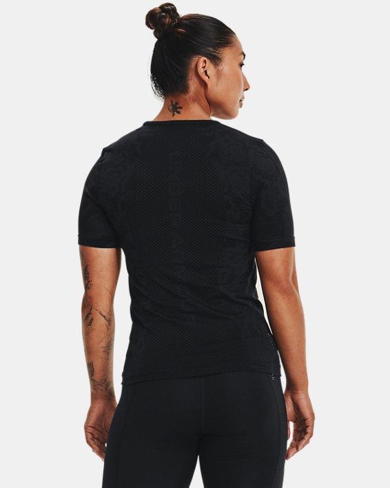 Women's UA RUSH™ HeatGear® Seamless Short Sleeve, Black, pdpMainDesktop image number 1