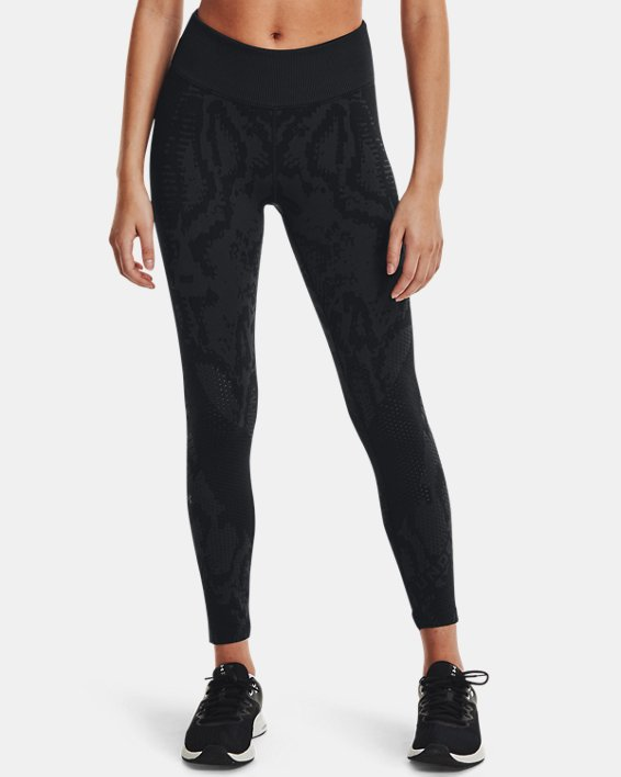 Women's UA RUSH™ HeatGear® Seamless Ankle Leggings, Black, pdpMainDesktop image number 0