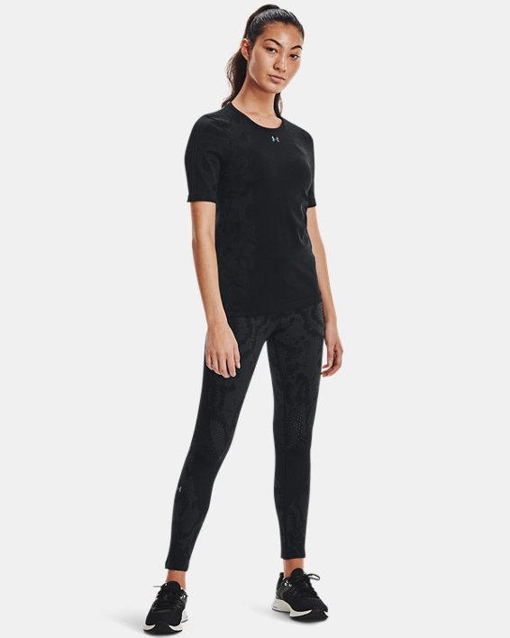 Women's UA RUSH™ HeatGear® Seamless Ankle Leggings, Black, pdpMainDesktop image number 2