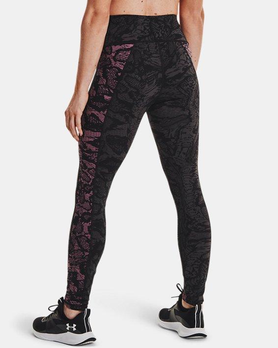 Women's UA RUSH™ HeatGear® No-Slip Waistband Printed Full-Length Leggings, Black, pdpMainDesktop image number 2