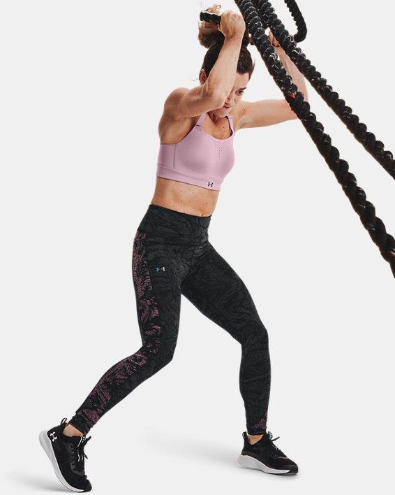 Women's UA RUSH™ HeatGear® No-Slip Waistband Printed Full-Length Leggings, Black, pdpMainDesktop image number 0