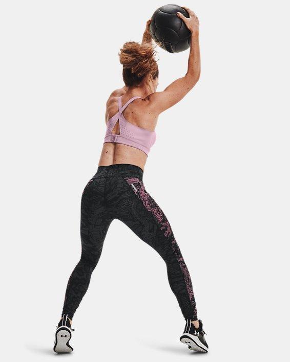 Women's UA RUSH™ HeatGear® No-Slip Waistband Printed Full-Length Leggings, Black, pdpMainDesktop image number 8